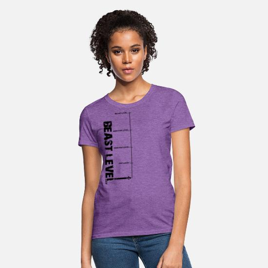 Work Out T-Shirts - Beast Level - Women's T-Shirt purple heather
