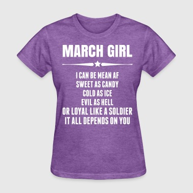 Super March Girl - Women's T-Shirt