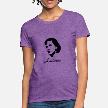9def79cc Radical Adrienne Rich Silhouette Famous Writer Poets shirt - Women's T-