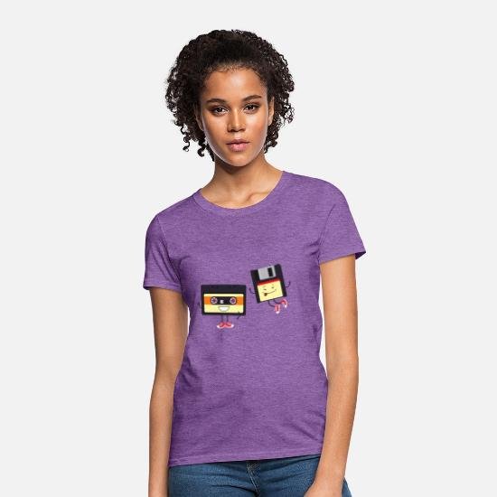 Tape T-Shirts - Floppy and cassette tape - Women's T-Shirt purple heather