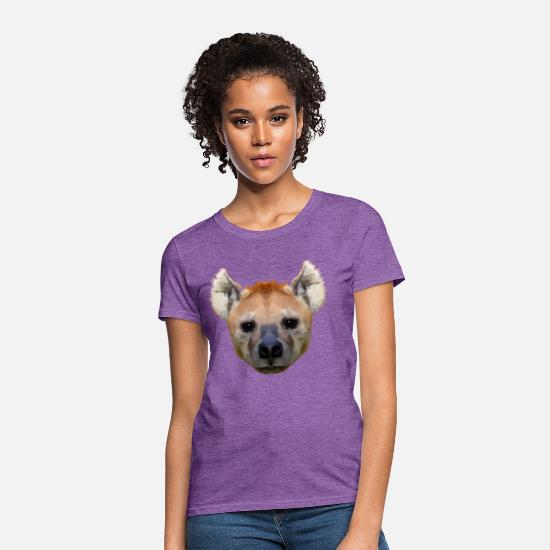 Hyena T-Shirts - hyena geometric - Women's T-Shirt purple heather
