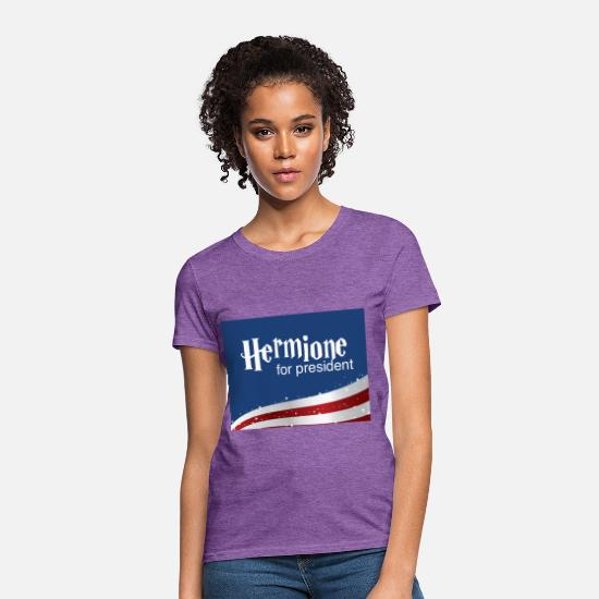 Hermione T-Shirts - Hermione for president - Women's T-Shirt purple heather