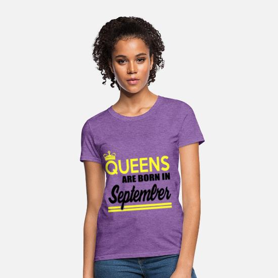 September T-Shirts - september 1829182912.png - Women's T-Shirt purple heather