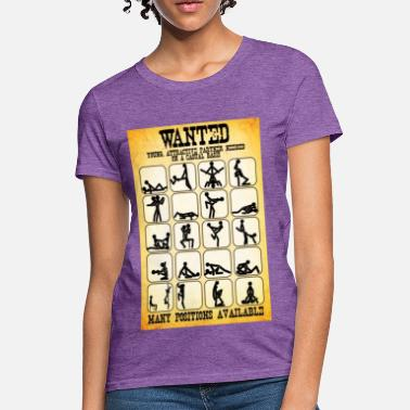 Pornstar Wanted Sex Poster - Women's T-Shirt