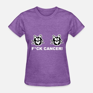 Showroom Fuck Fight Cancer Breast Cat Pink Cats Statement - Women's T-Shirt