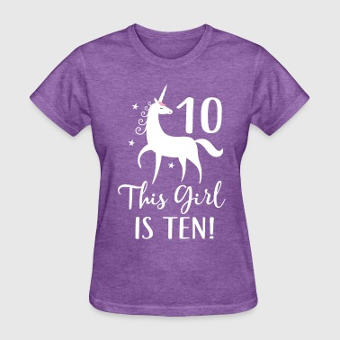 10th Birthday Girl Unicorn - Women's T-Shirt