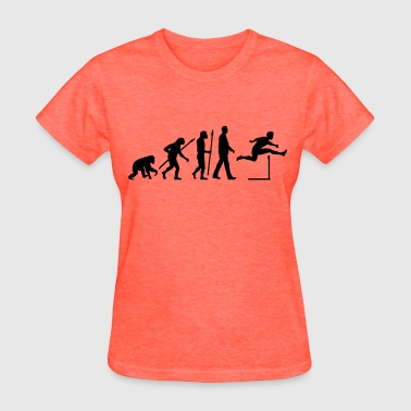Evolution hurdling man-02 - Women's T-Shirt