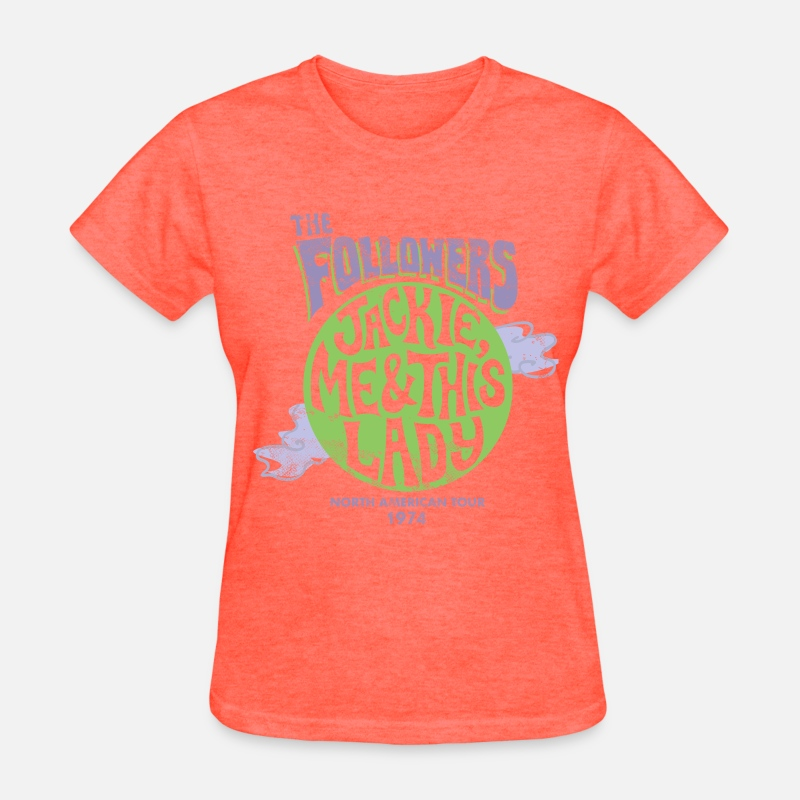 Heart T-Shirts - Women's The Followers Shirt - Women's T-Shirt heather coral