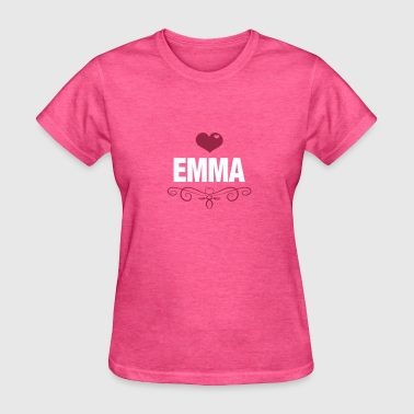 EMMA, Love, Heart, Baby, Girl, Birthday, Presents - Women's T-Shirt
