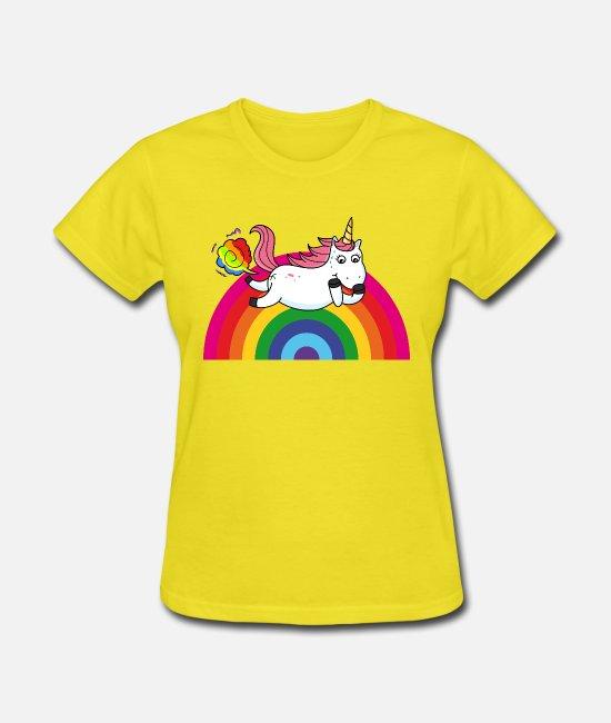 Farting Unicorn Rainbow Women's T-Shirt | Spreadshirt