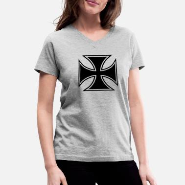 Cross Iron cross - Women's V-Neck T-Shirt