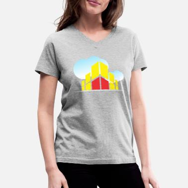 Building In The Clouds Style - Women's V-Neck T-Shirt
