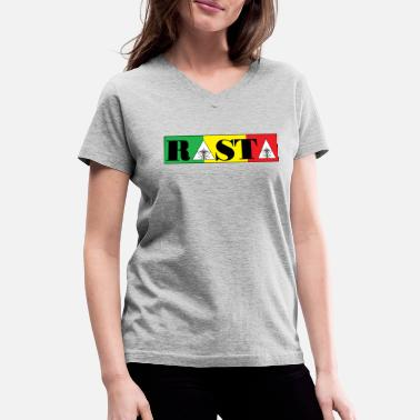 Rasta rasta - Women's V-Neck T-Shirt