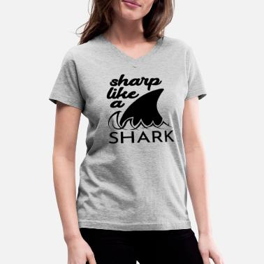 Sharp Sharp - Women's V-Neck T-Shirt