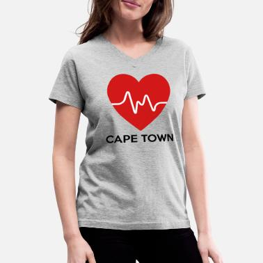 Cape Town Heart Cape Town - Women's V-Neck T-Shirt