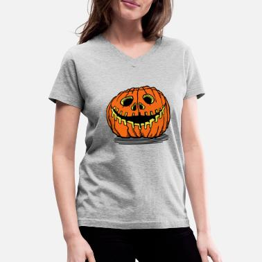 Pumpkin halloween pumpkin - Women's V-Neck T-Shirt
