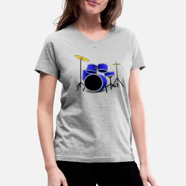 Rhythm drums - Women's V-Neck T-Shirt