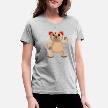 Teddy Man Crazy Teddy Bear like u Gift idea for man & woman - Women's V-Neck T-Shirt