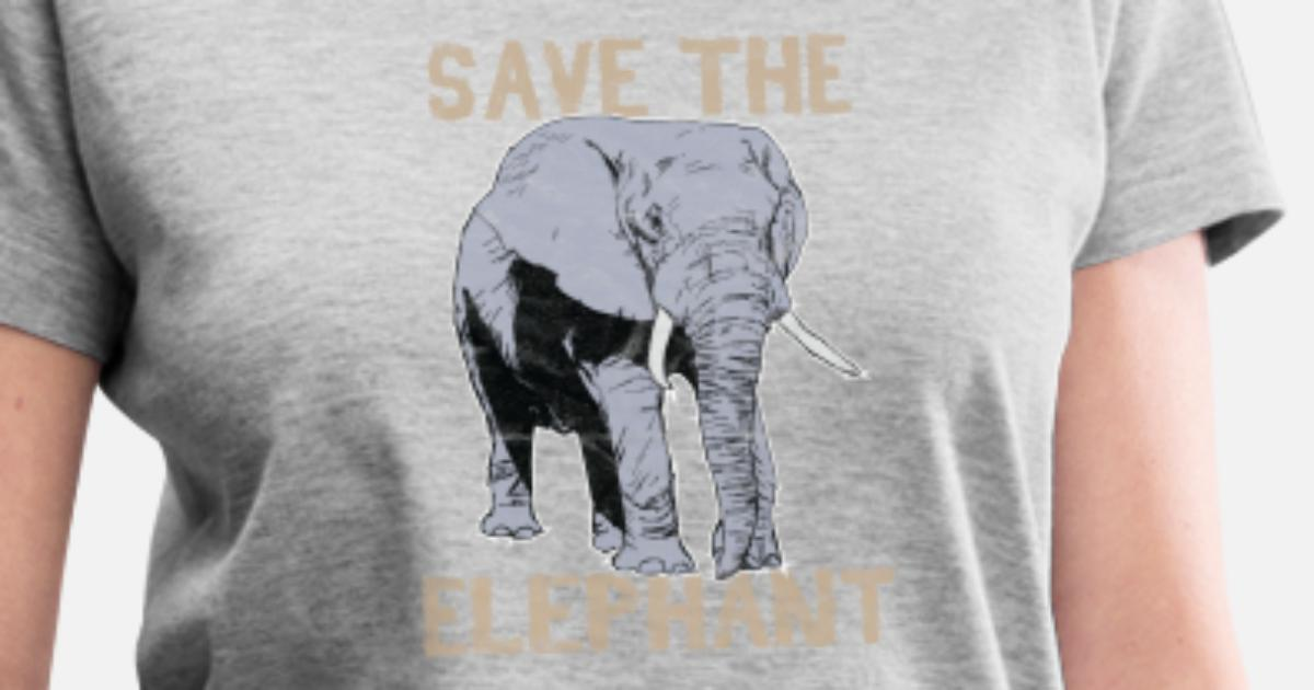 22f7fb2e3 Animal Print - Save The Elephant Women s V-Neck T-Shirt