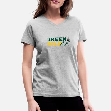 Green And Gold Green and Gold AF - Women's V-Neck T-Shirt