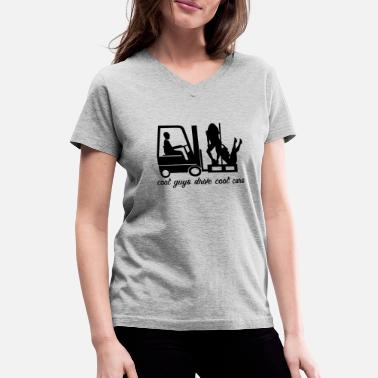 Fork-lift Trucks fork lift truck - Women's V-Neck T-Shirt
