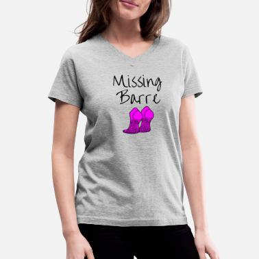 Class Missing Barre Socks! - Women's V-Neck T-Shirt