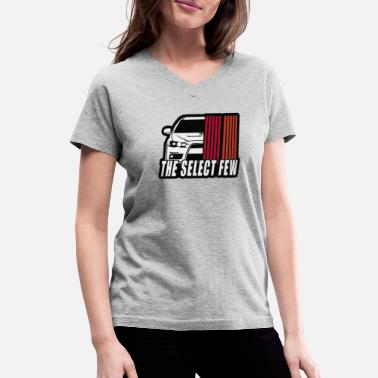 Mitsubishi Evo Solid Select Few - Women's V-Neck T-Shirt
