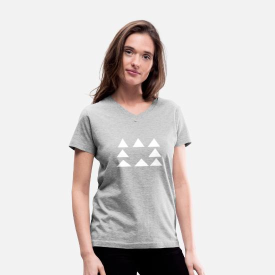 Triangle T-Shirts - triangles - Women's V-Neck T-Shirt gray