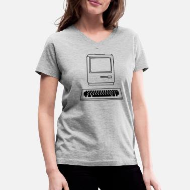 Computing Computer - Women's V-Neck T-Shirt
