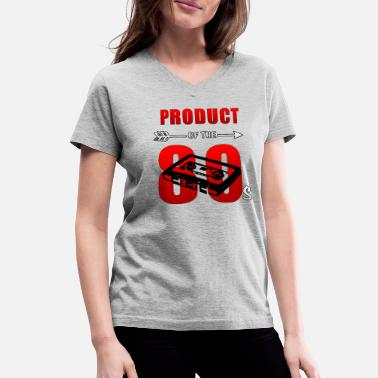 Production Year 80s band t shirts product of the 80s birthday - Women's V-Neck T-Shirt