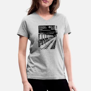 NYC Subway - Women's V-Neck T-Shirt