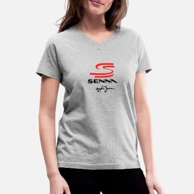 ayrton senna 2 - Women's V-Neck T-Shirt