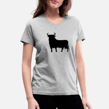 Spanish Spanish Bull - Women's V-Neck T-Shirt