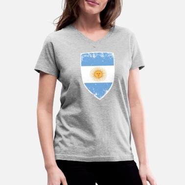 Flag Of Argentina Flag of Argentina - Women's V-Neck T-Shirt