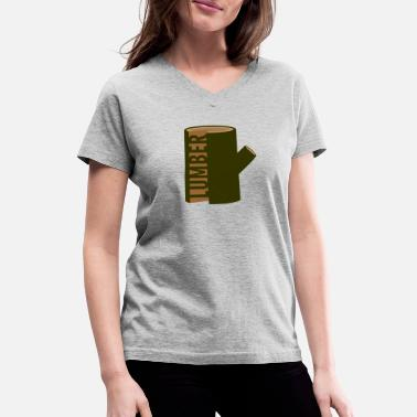 Lumber lumber - Women's V-Neck T-Shirt