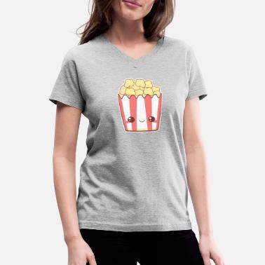 Popcorn Geek Popcorn - Women's V-Neck T-Shirt