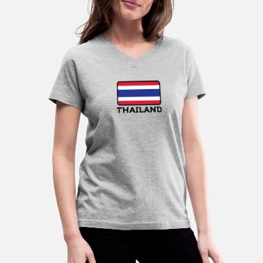 Sex Laos National Flag Of Thailand - Women's V-Neck T-Shirt
