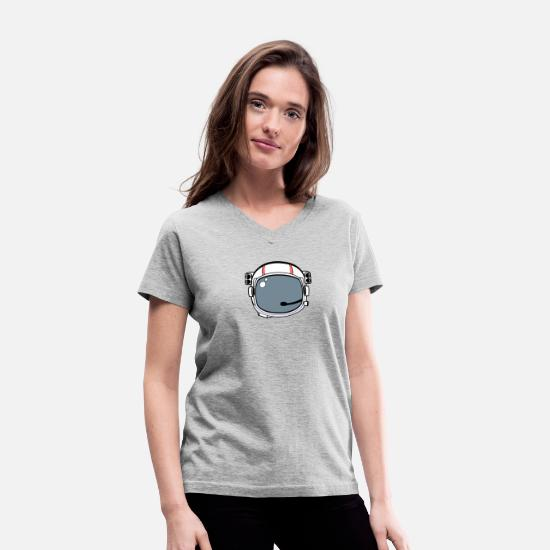 Helmet T-Shirts - HELMET - Women's V-Neck T-Shirt gray