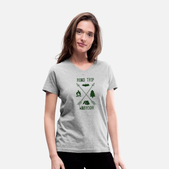 Trip T-Shirts - road trip - Women's V-Neck T-Shirt gray