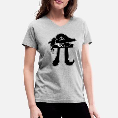 Arge Pi-Rate - Women's V-Neck T-Shirt