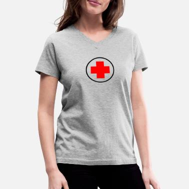 Red Cross red cross - Women's V-Neck T-Shirt