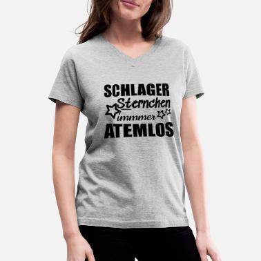Folk Schlager starlet always breathless - Women's V-Neck T-Shirt