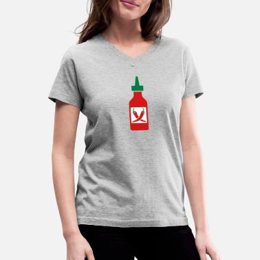 Chilli Sauce chilli sauce - very hot - Women's V-Neck T-Shirt