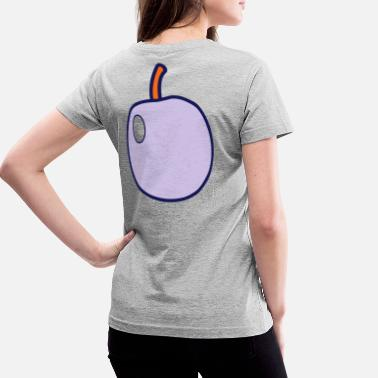 Plum A fruit PLUM - Women's V-Neck T-Shirt