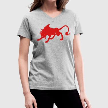 Final Fanyasy VII - Red XIII - Women's V-Neck T-Shirt