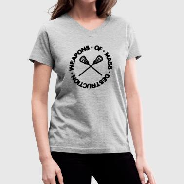 Weapons Of Mass Destruction (lacrosse) - Women's V-Neck T-Shirt