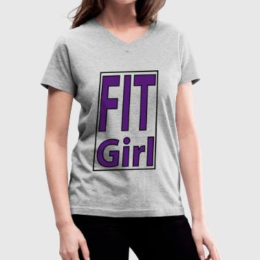 Fit Girl - Women's V-Neck T-Shirt