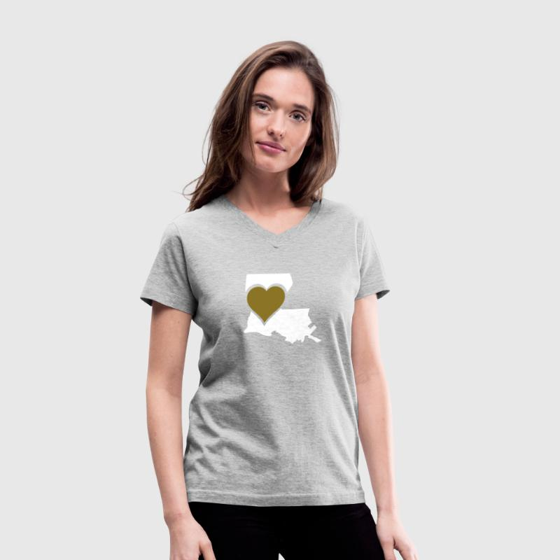 Love Louisiana - Women's V-Neck T-Shirt