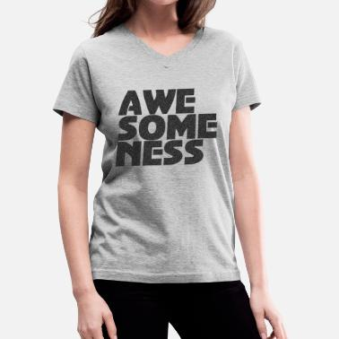 Awesome Vector Awesomeness Vector T-shirt design. - Women's V-Neck T-Shirt