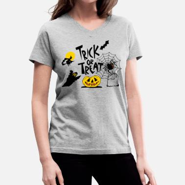 Trick Or Treat TRICK OR TREAT - Women's V-Neck T-Shirt